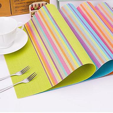 Rectangulaire Striped Placemats , פלסטיק materiaali Hotel ruokapöytä