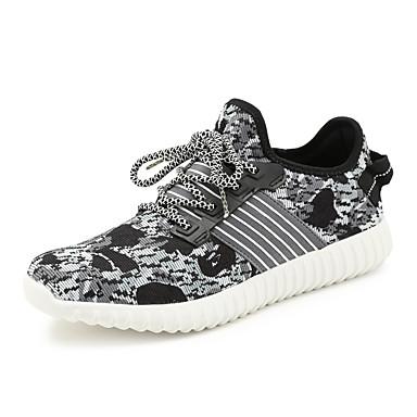 Sneakers-Tyl-Komfort-Herre-Sort / Blå-Udendørs / Sport / Hverdag-Flad hæl