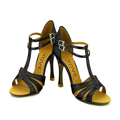 Kadın's Latince Balo Işıltılı Simler Yapay Deri Sandaletler Toka Kişiye Özel Siyah Kırmızı Gümüş Mavi Altın Kişiselleştirilmiş