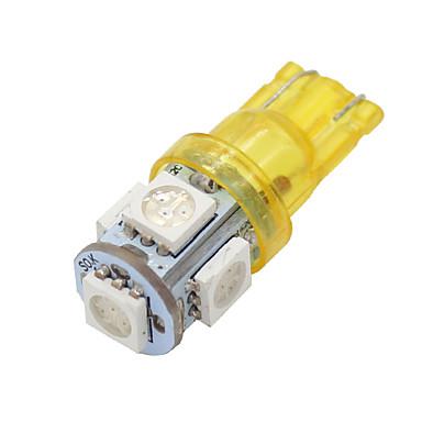 20x süper parlak kehribar sarı t10 / 194/168/2825 5 led ışıklar lamba ampul 5050 smd