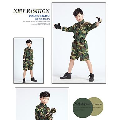 børns sommerlejr for mænd og kvinder store jomfru dragt armygrøn uniform ydeevne tøj
