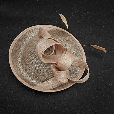 Vlas / Veer fascinators 1 Bruiloft / Speciale gelegenheden  Helm