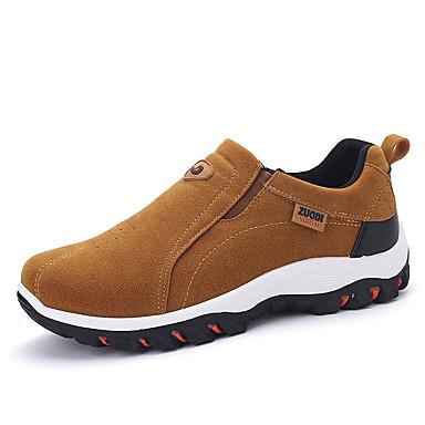 Miesten kengät Mokkanahka Kevät Syksy Comfort Mokkasiinit Kävely varten Kausaliteetti Musta Harmaa Khaki