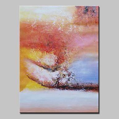 håndmalede moderne abstrakt oliemaleri på lærred væg kunst billede med strakte ramme klar til at hænge