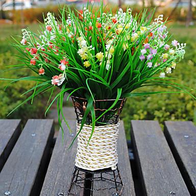 1 Ast Polyester Kunststoff Campanula Tisch-Blumen Künstliche Blumen
