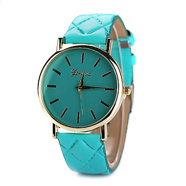 Mulheres Relógio de Moda Relógio Casual Couro Banda Preta / Branco / Azul / Um ano / Tianqiu 377
