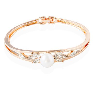 Dames Tennis Armbanden Modieus Legering Cirkelvorm Goud Rose Sieraden Voor Bruiloft 1 stuks