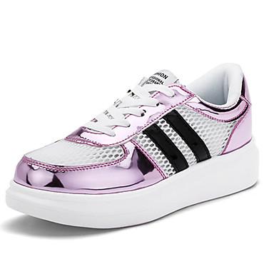 Sneakers-Tyl PUDame-Rød Sølv Guld-Fritid-Flad hæl