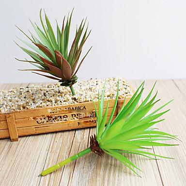 1pc 1 Tak Polyester / Kunststof Planten Bloemen voor op tafel Kunstbloemen 6.4inch/16.5CM