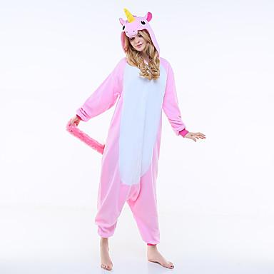 Adulte Pyjamas Kigurumi Unicorn Cheval volant Combinaison de Pyjamas  Polaire Rose Cosplay Pour Homme et Femme cf983d0e503c