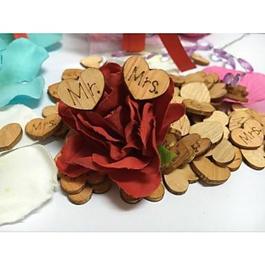 Træ Bryllup Dekorationer-100Stykke/Sæt Forår Sommer Efterår Ikke-personliggjortDen er en god hjælp til dit bryllup, hvis du skal bruge