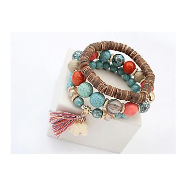 Dames Strand Armbanden Wikkelarmbanden Vintage Modieus Sierstenen leuke Style Met de hand gemaakt Europees HarsCirkelvorm Dierenvorm