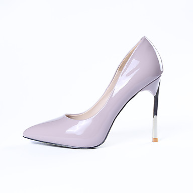 Women's Shoes Leatherette Spring / Fall Heels Beige Walking Shoes Stiletto Heel Beige Heels / Purple / Red 2e5eb7