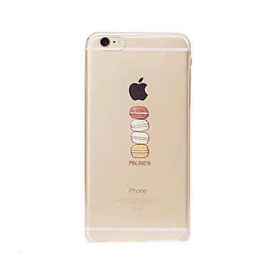 Case For Apple iPhone 8 iPhone 8 Plus iPhone 6 iPhone 6 Plus Transparent Back Cover Food Soft TPU for iPhone 8 Plus iPhone 8 iPhone 7