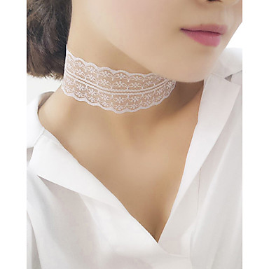Damen Halsketten Spitze Modisch Weiß Schwarz Schmuck Party Alltag Normal 1 Stück