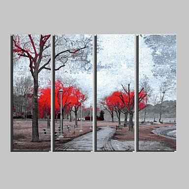 Kasvitiede Canvas Tulosta 4 paneeli Valmis Hang , Pysty