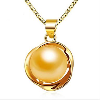 Damen Anhängerketten / Anhänger - Perle, Sterling Silber Personalisiert, Retro, Modisch Silber, Golden, Rotgold Modische Halsketten Für Hochzeit, Party, Alltag / Normal
