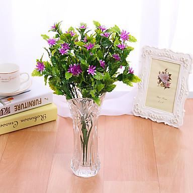 1 haara Muovi Päivänkakkarat Pöytäkukka Keinotekoinen Flowers