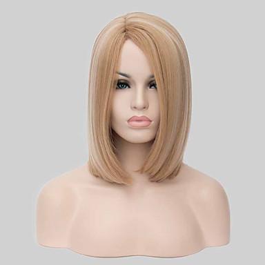 Synthetische pruiken Recht Blond Dames Zonder kap Carnaval Pruik Halloween Pruik Natuurlijke pruik Medium Synthetisch haar