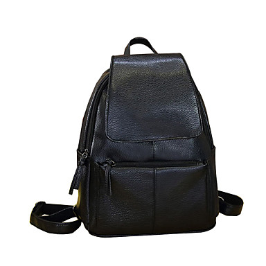 Naisten Kassit PU Backpack varten Kausaliteetti Kaikki vuodenajat Musta