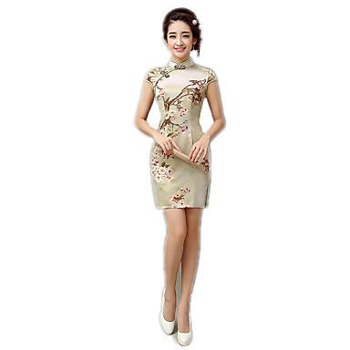 Einteilig/Kleid Cosplay Lolita Kleider Blumen Kurzarm Zum