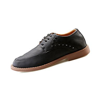 Sneakers-PU-Komfort-Herre-Sort Brun Grå-Fritid-Flad hæl