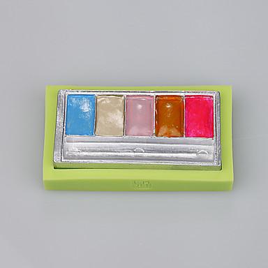rectángulo de las mujeres forma de sombra molde de silicona fondant herramientas de decoración de pasteles de color al azar