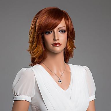 Human Hair Capless Pruiken Echt haar Golvend Klassiek Hoge kwaliteit Zonder kap Pruik Dagelijks