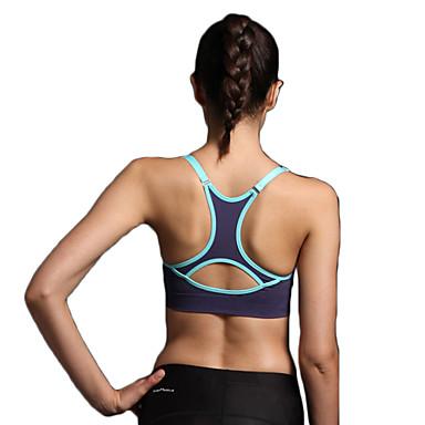 Racerback / Patchwork Sport bh's Gewatteerd Lichte ondersteuning Voor Yoga / Hardlopen / Fitness - Licht Grijs / Rose Rood / Grijs 3D Pad, Sneldrogend, Ademend Dames Sexy, Modieus Polyester, Nylon