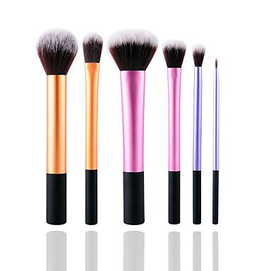 6 Brush Sets Synthetisch haar Milieuvriendelijk Professioneel Beugel Metaal Kunststof Oog Gezicht