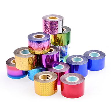 1 rolls Engomada del arte del clavo Joyas de Uñas / Calcomanías de Uñas 3D maquillaje cosmético Nail Art