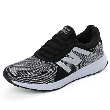 Sneakers-Stof-Komfort-Herre-Grøn Rød Hvid Orange-Fritid-Flad hæl