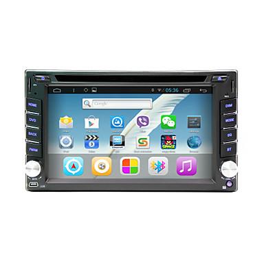 wifi, gps, rds, bt, dokunmatik ekran ile android 4.4 6.2 inç in-dash araba dvd oynatıcı çoklu dokunmatik kapasitif