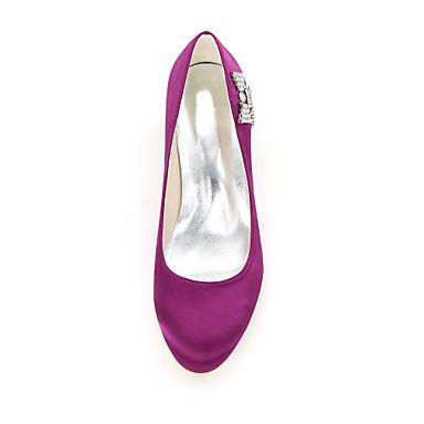 06199671 Bleu Chaussures de Strass Satin Bout Femme Escarpin Chaussures Aiguille Basique Ivoire Printemps mariage rond Eté Champagne Talon FxRTwqB