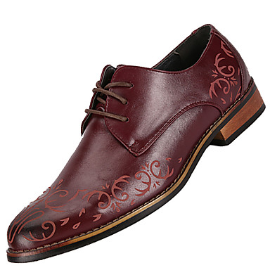 Heren Schoenen Leer Lente / Herfst Comfortabel Oxfords Zwart / Bruin / Bordeaux / Leren schoenen