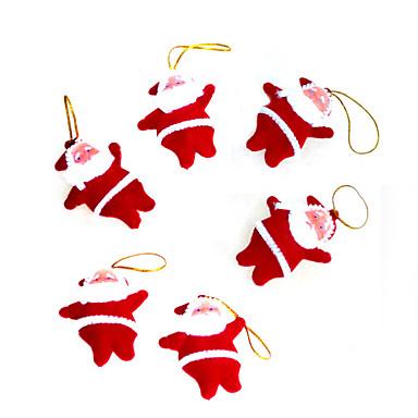 6pcs presentes pequenos Natal de Papai Noel decoração vermelha Natal / produtos de Natal / árvore de Natal