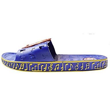 Unissex Sapatos Courino Primavera Chinelos e flip-flops Rasteiro Estampa Animal Para Casual Azul Rosa claro