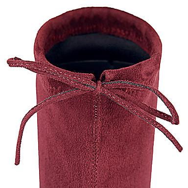 Similicuir Lacet amp; Bottes Evénement Hiver Talon Femme Bottier la Automne Gris Bottes 05270060 Soirée Bourgogne Mode Chaussures à Noir FBPxq5q