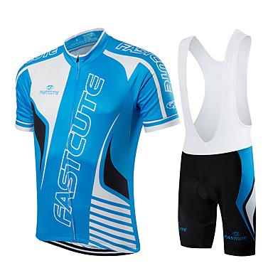 Fastcute Fahrradtrikot mit Trägerhosen Herrn Damen Kinder Unisex Kurzarm Fahhrad Bib - Shorts/Kurze radhose MIT Trägern Sweatshirt