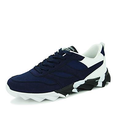 Sneakers-PU-Komfort-Herre-Sort Blå Sort og Rød Sort og Hvid-Fritid-Flad hæl