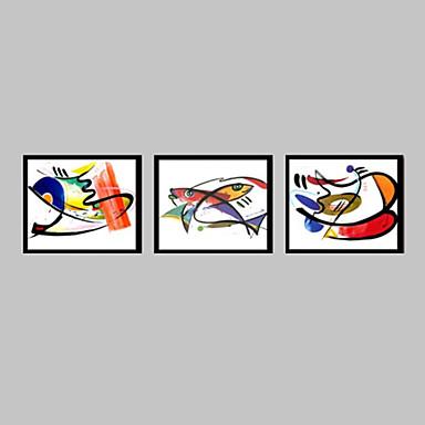 Pânză Înrămată Set Înrămat Abstract Animale Wall Art, PVC Material cu Frame Pagina de decorare cadru Art Sufragerie Dormitor Cameră Copii