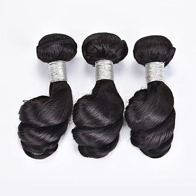 Cabelo Brasileiro Ondulação Larga Tramas de cabelo humano 3 Peças 0.15