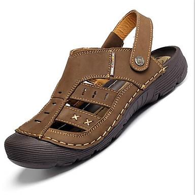 Sandaler-LæderHerrer--Fritid-Flad hæl