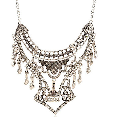 Dames Hangertjes ketting Juweeltje Verzilverd imitatie Diamond Legering Bloemvorm PERSGepersonaliseerd Gesneden Zilver SieradenFeest