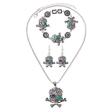 Herrn Schmuck-Set Ohrringe Halsketten Armband - Charme Modisch Glied / Kette Blau Halskette / Ohrringe Halskette / Armband Für Alltag