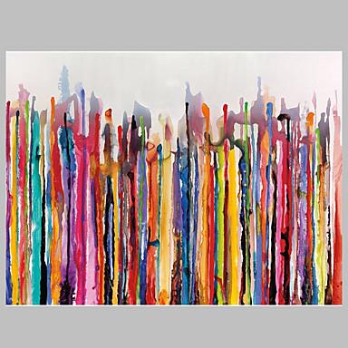 Hang malte oljemaleri Håndmalte - Abstrakt Moderne Parfymert Lerret