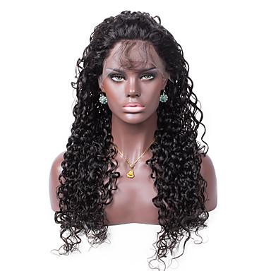 Menneskehår Helblonde Blonde Front Paryk Krøllet 130% Massefylde 100 % håndbundet Afro-amerikansk paryk Natural Hairline Kort Medium Lang