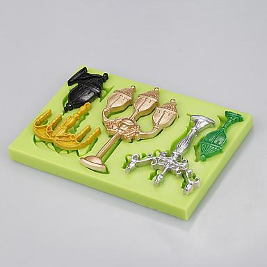 Quente por atacado retângulo 5 em 1 jóias de silicone moldes bolo molde fondant bolo ferramentas cor aleatória