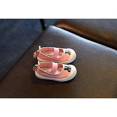 Meisjes Baby Platte schoenen Canvas Herfst Causaal Platte hak Wit Blauw Roze Onder 2,5cm