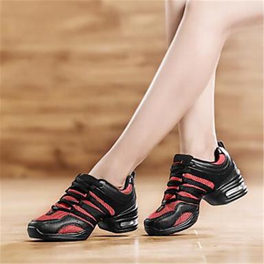 Feminino Sapatos Lona Primavera Outono Tênis Rasteiro Cadarço Para Casual Branco Preto Vermelho